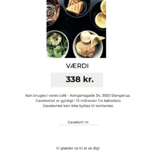 ærligt - brunch for 2 i cafe